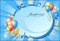 Festival balloon vector of material