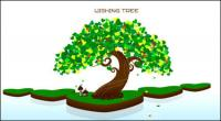 Wish tree vector of material