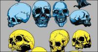 Skeleton head vector of material