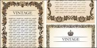 European luxuriant lace border vector of material