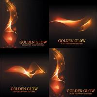 Blazing golden light Vector