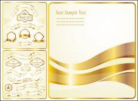 Vector Golden Ribbon label