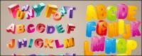 Lovely three-dimensional letters Vector