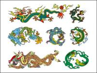Chinese Classical Dragon Vector of ten