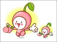 Love the cartoon super fruit Vector 6