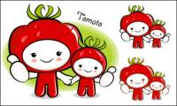 Love the cartoon super fruit Vector 5