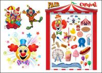 The clown & carnival vector of material