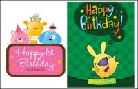 Birthday card vector of material