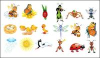 Cute Cartoon Vector insects