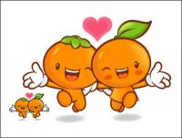 Love the cartoon super fruit Vector 9
