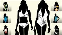 Models catwalk silhouette Vector
