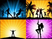 Beautiful figure silhouette vector of material