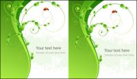 Vector ladybug green