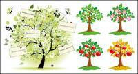 Vector illustration of trees