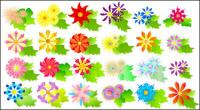 Colorful flowers vector of material