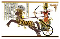 Ramses II, the Battle of Stone Vector Diego Card