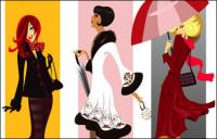 Vector fashion female characters