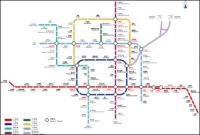Beijing Subway Line 09 version vector diagram