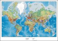 Map of the world with hilly terrain Vector plans	