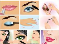 Women make up an instant local vector material