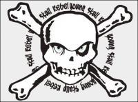 Vector skull stamp