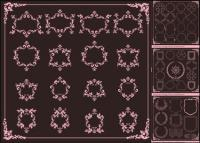 European Classic lace border Vector