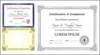 European certificate template vector