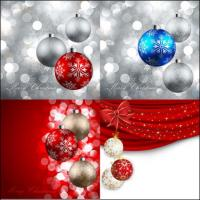 Beautiful Christmas ball -11-- vector material
