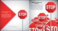 Beautiful road signs - vector material