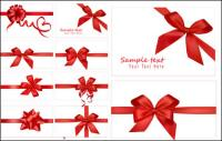 festive gift bow vector material