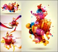 Colorful Christmas gifts Vector