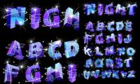 Three-dimensional vector alphabet flash
