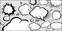 Cartoon-style mushroom cloud layer 02 - Vector