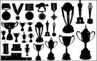 Medals and trophies Silhouette Vector