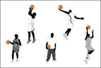 Basketball action figures and Vector