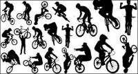 Vector People silhouette sport of cycling