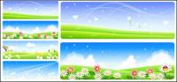 Vector Summer countryside scenery