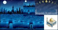 Vector construction or night