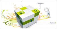 3D Cube 3D mean vector material