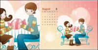 Calendar vector material