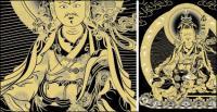 Guru Padmasambhava Thangka vector