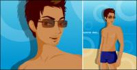 Vector material swimwear men