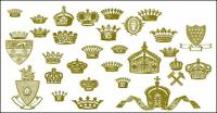 Crown, lion, hammer, Royal vector material