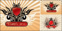 Crown, wings, shields, lions vector