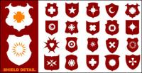 A wide variety of shield shapes vector material