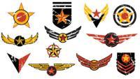 Flight badges vector