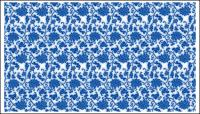 Blue and white porcelain, blue and white porcelain pattern vector