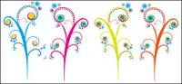 Tree color flowers Vector