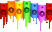 Horn, paint vector