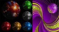 Disco crystal ball Vector material